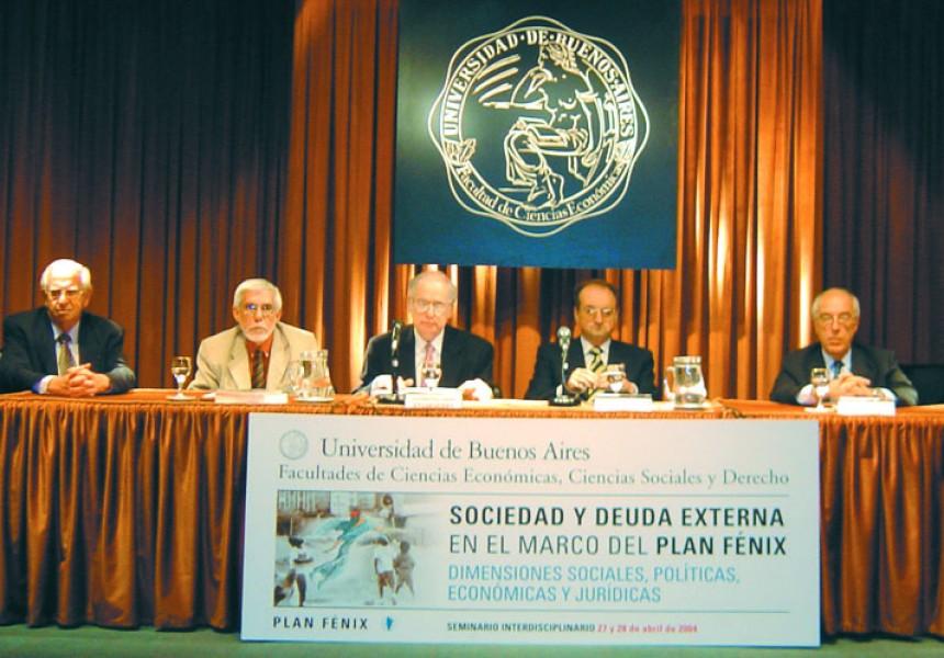 Abraham L. Gak, Eduardo Grüner, Guillermo Jaim Etcheverry, Carlos A. Degrossi y Atilio Alterini