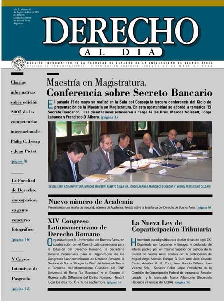 Tapa de Derecho al Día - Edición 48