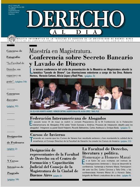 Tapa de Derecho al Día - Edición 49