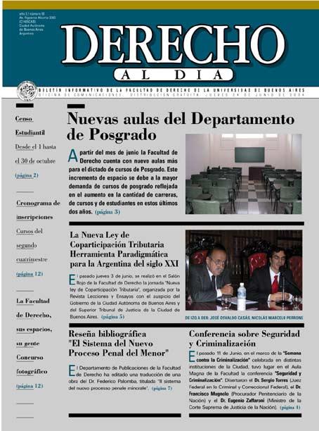 Tapa de Derecho al Día - Edición 50