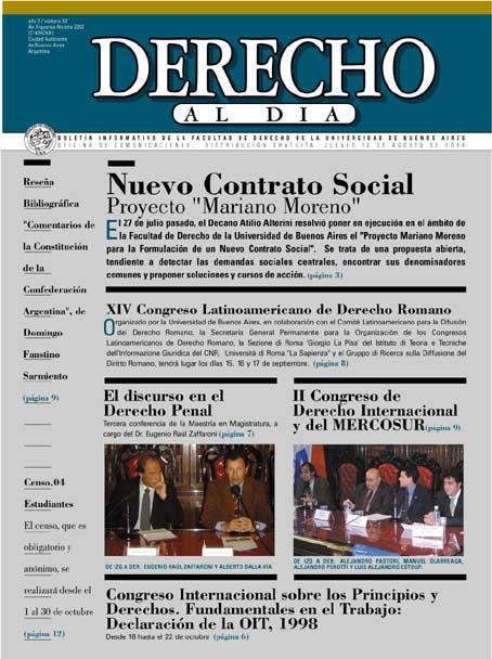 Tapa de Derecho al Día - Edición 52