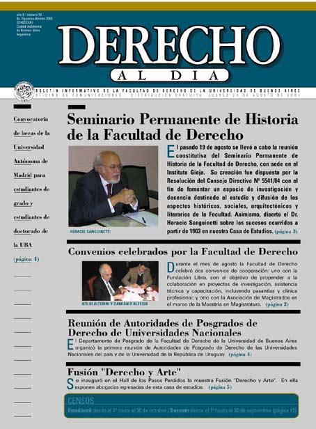 Tapa de Derecho al Día - Edición 53