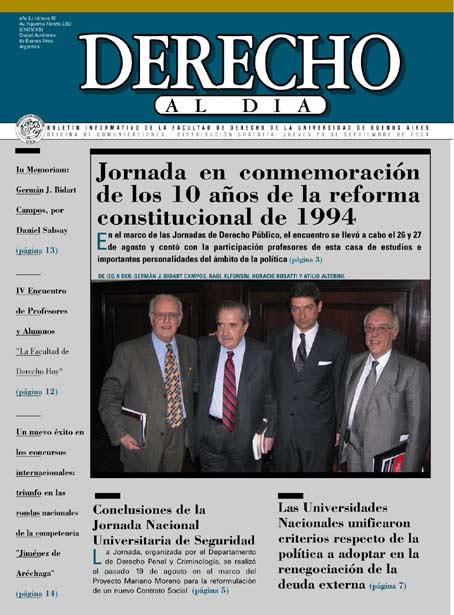 Tapa de Derecho al Día - Edición 55