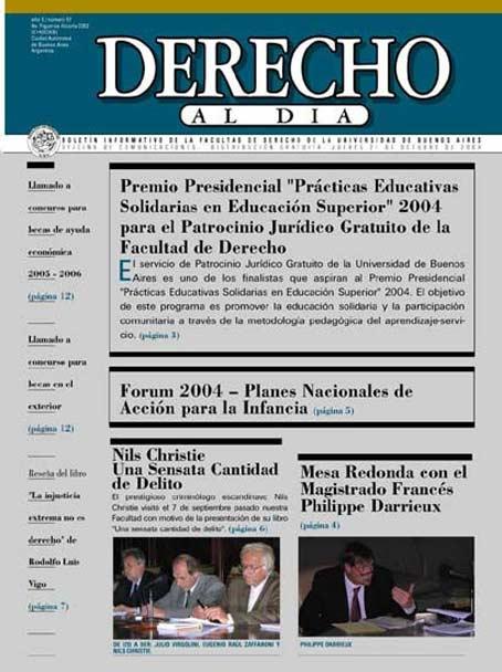 Tapa de Derecho al Día - Edición 57