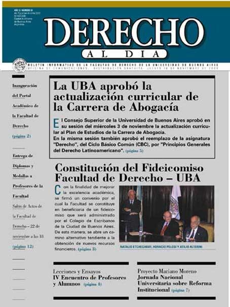 Tapa de Derecho al Día - Edición 59
