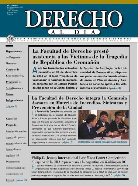 Tapa de Derecho al Día - Edición 62