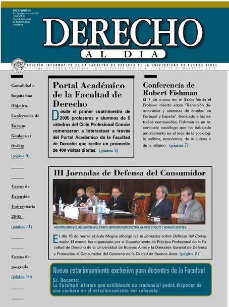 Tapa de Derecho al Día - Edición 63