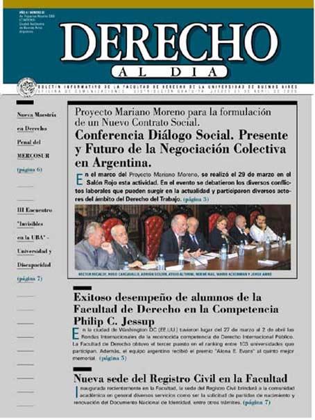 Tapa de Derecho al Día - Edición 65