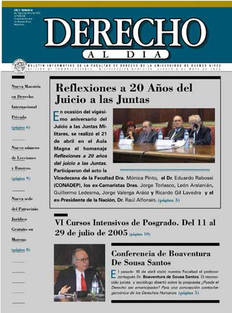 Tapa de Derecho al Día - Edición 66