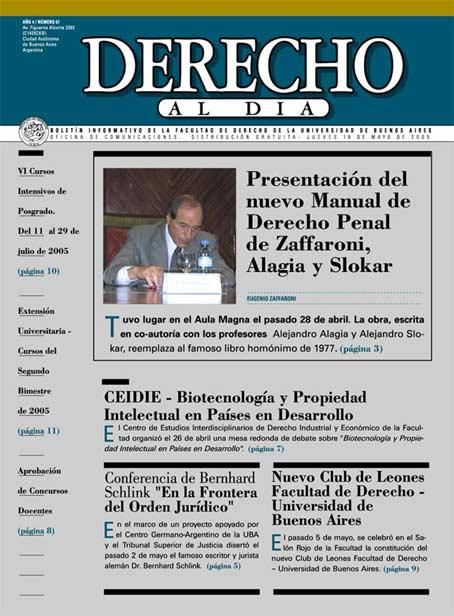 Tapa de Derecho al Día - Edición 67
