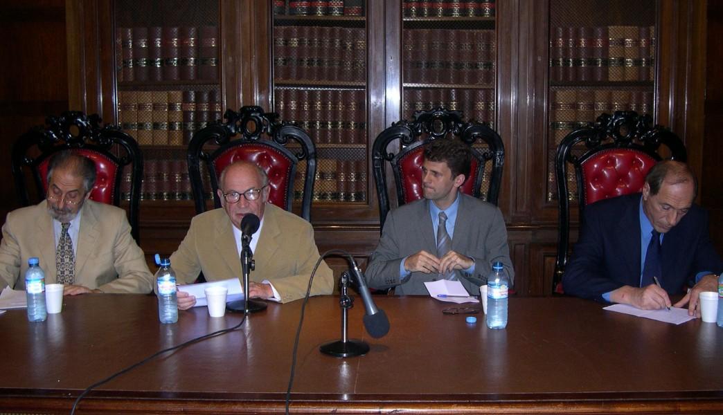 Edmundo Hendler, David Baigún, Ignacio Anitua y Eugenio Zaffaroni