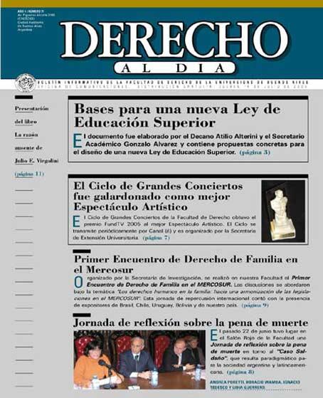 Tapa de Derecho al Día - Edición 71