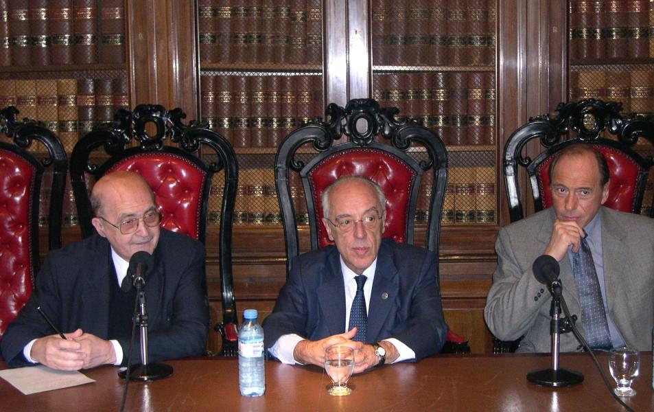 Miguel Ángel Ciuro Caldani, Atilio Alterini y Eugenio Zaffaroni