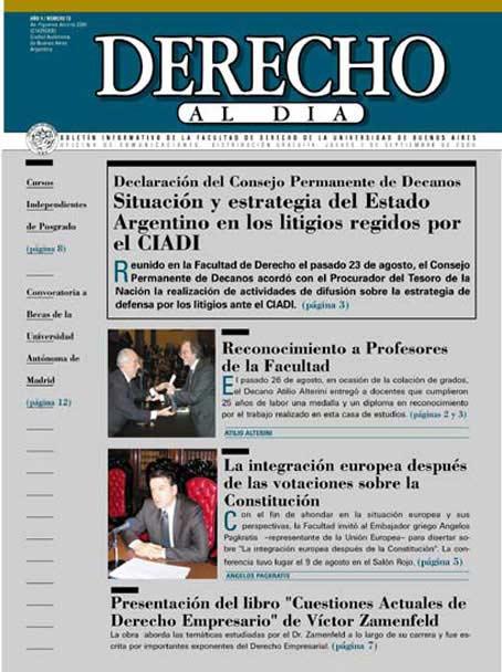Tapa de Derecho al Día - Edición 73