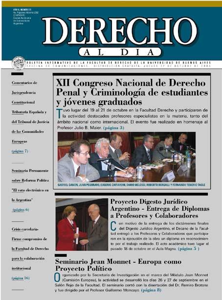 Tapa de Derecho al Día - Edición 77