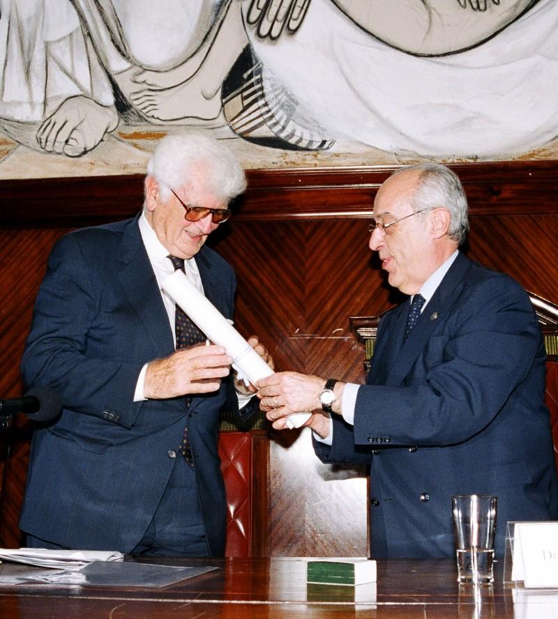 Víctor Uckmar y Atilio Alterini