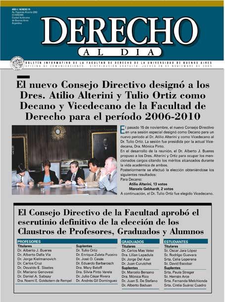 Tapa de Derecho al Día - Edición 79