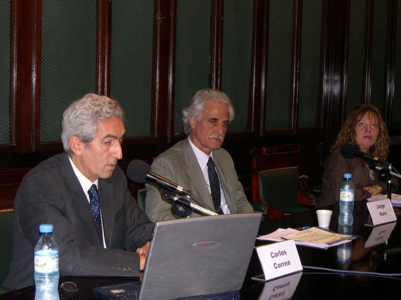 Carlos Correa, Jorge Kors y Claudia Madies