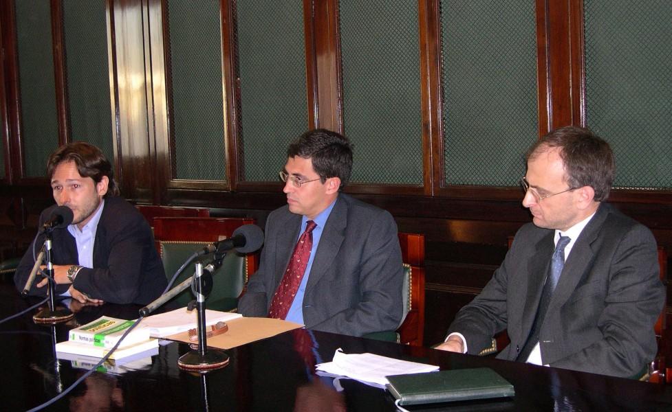 Juan Ignacio Sáenz, Guillermo Escobar Roca y Carlos Balbín
