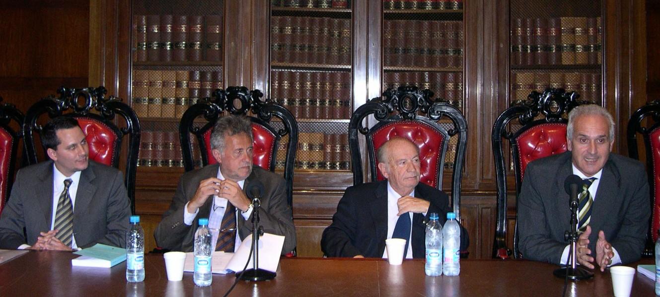 Alejandro Catania, Julio Virgolini, David Baigún y Carlos Cruz