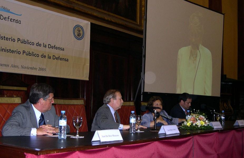 Juan de Dios Moscoso, Luis María Cabral, Stella Maris Martínez y Víctor Hortel