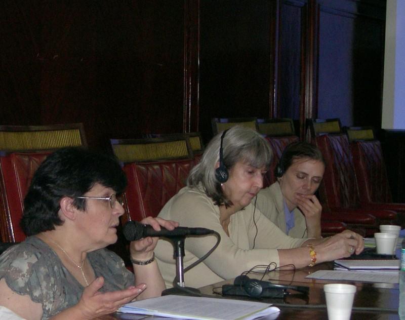Isabel Ferreira, Lynn Welsh y Donna Mc Gowen