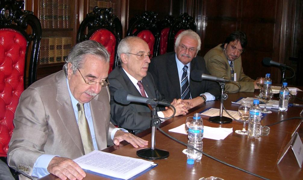 Raúl Alfonsín, Atilio Alterini, Alberto Filippi, Miguel Vallone