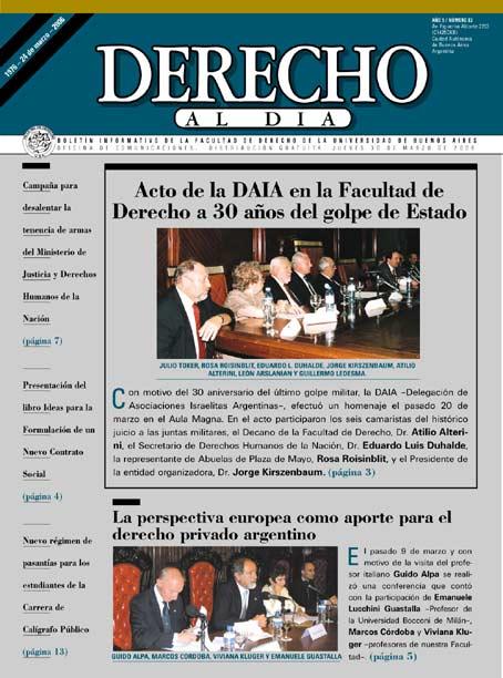Tapa de Derecho al Día - Edición 83