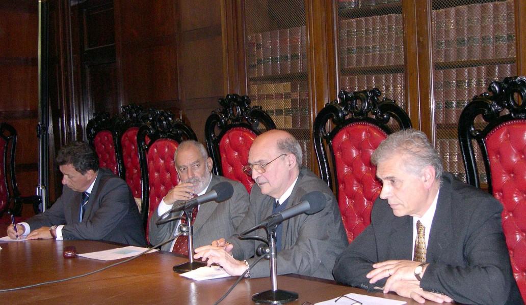 Alberto Dalla Vía, Mario Ackerman, Miguel Ángel Ciuro Caldani y Carlos Ghersi