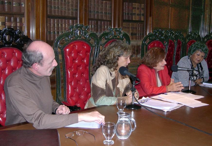 Juan Carlos Volnovich, Sara Mamani, Nelly Minyersky  y Dora Barranco