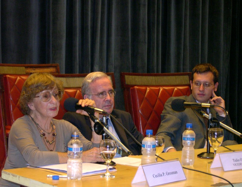 Cecilia Grosman, Tulio Ortiz y Lucas Bettendorff