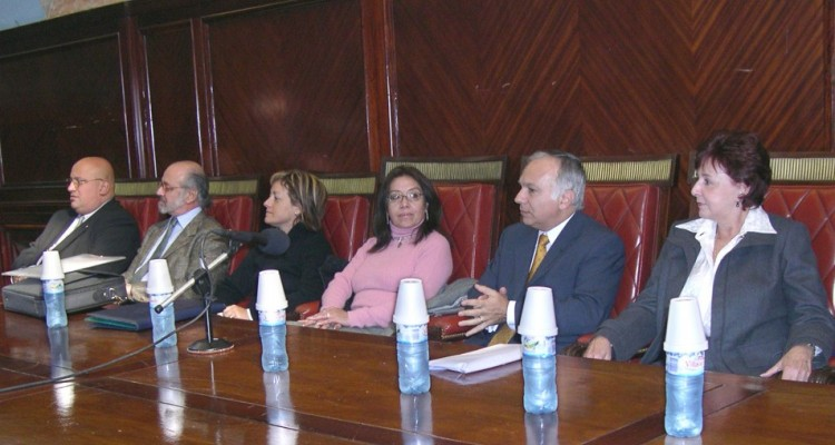 Manuel Céspedes Laguardia, Eduardo Sirkin, Ana Solivellas, Rosa Laguna Quiroz, Omar L. Díaz Solimine, Irma Lovera y Livia Figueiredo