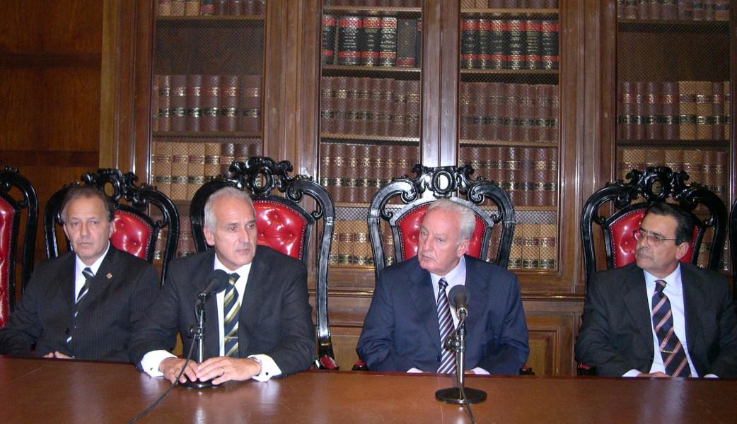 Manuel Lamas, Carlos Cruz, Diego Sánchez y Norberto Pantanelli