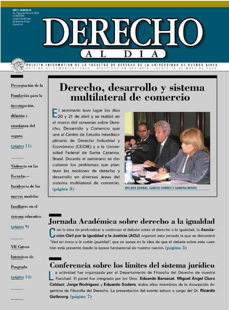 Tapa de Derecho al Día - Edición 86