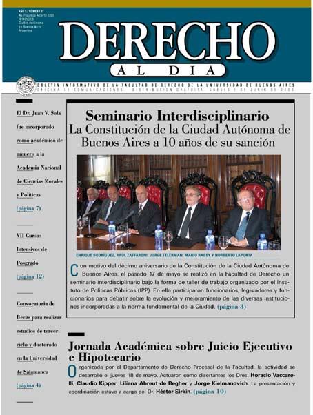 Tapa de Derecho al Día - Edición 87