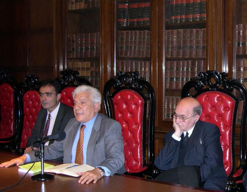 Juan Antonio Seda, Eduardo López Betancourt y Miguel Ángel Ciuro Caldani