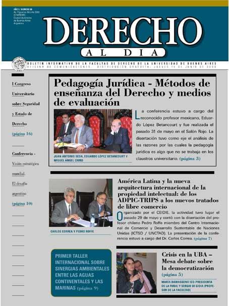 Tapa de Derecho al Día - Edición 88