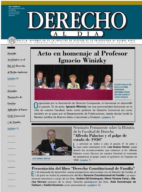 Tapa de Derecho al Día - Edición 89