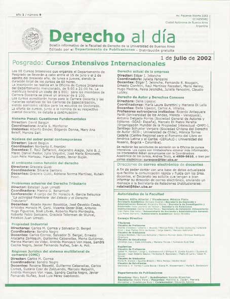 Tapa de Derecho al Día - Edición 9