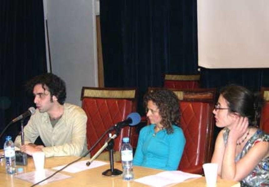 Gonzalo Aguirre, Gabriela Veronelli y Cinthya Farina