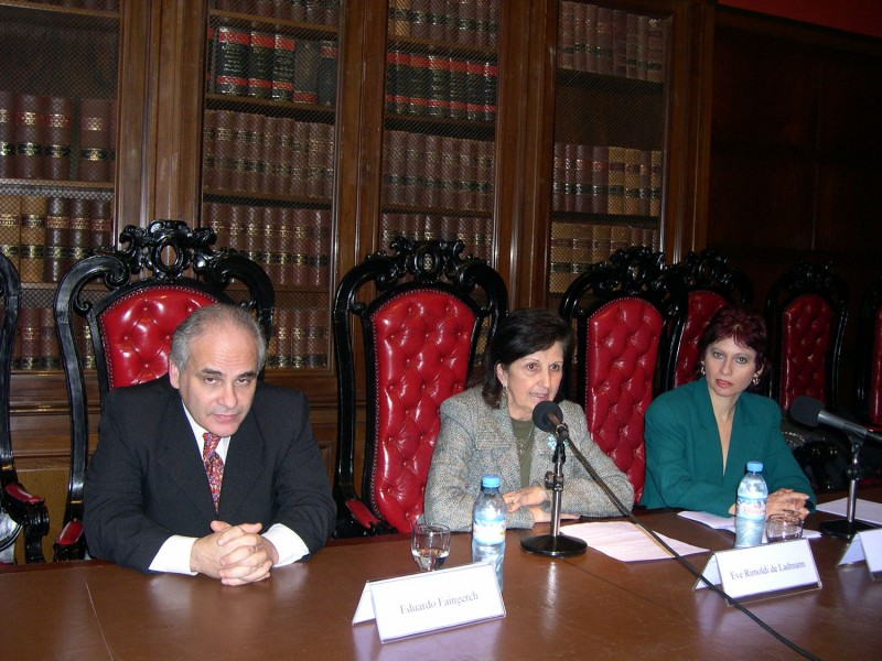 Eduardo Faingerch, Eve Rimoldi de Ladmann y Viviana Kluger