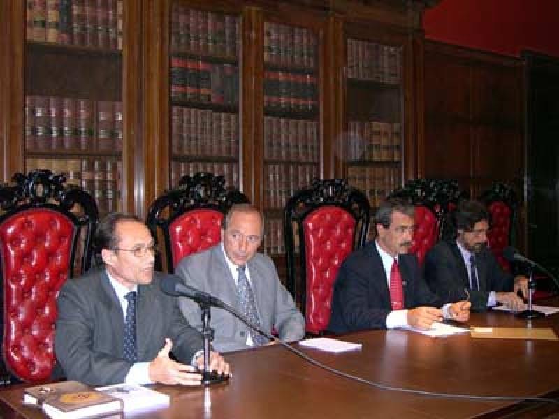Jorge García, Eugenio Zaffaroni, Ricardo Álvarez y Daniel Erbetta