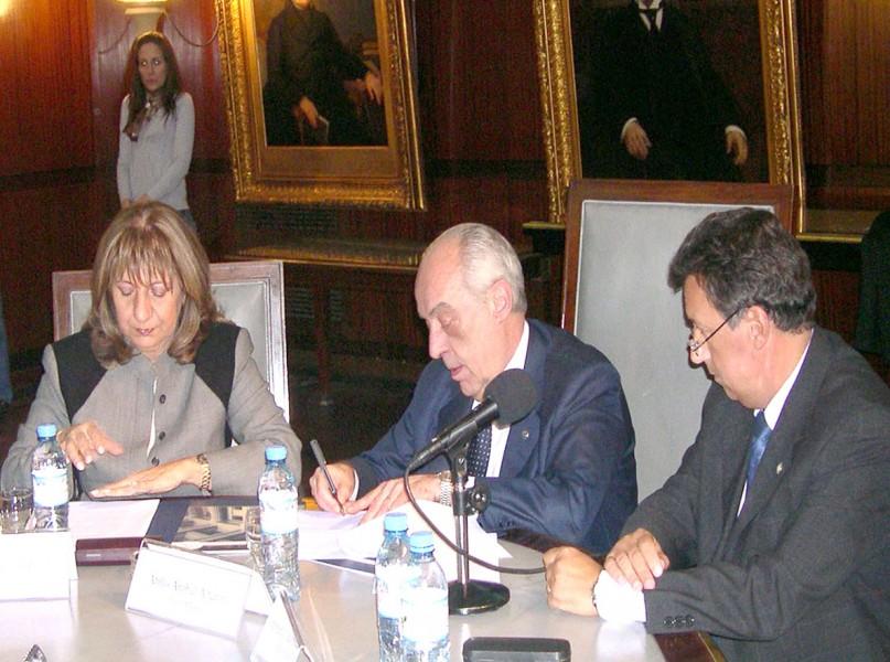 María del Carmen Falbo, Atilio A. Alterini y Alberto Dalla Vía