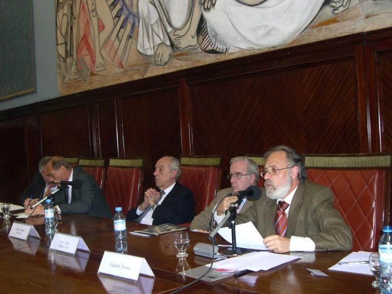 Julio Virgolini, Eugenio Zaffaroni, Atilio Alterini, Tulio Ortiz y Edgardo Donna