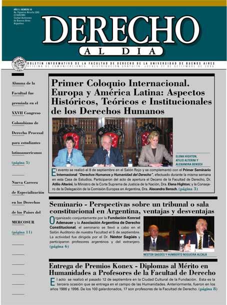 Tapa de Derecho al Día - Edición 93