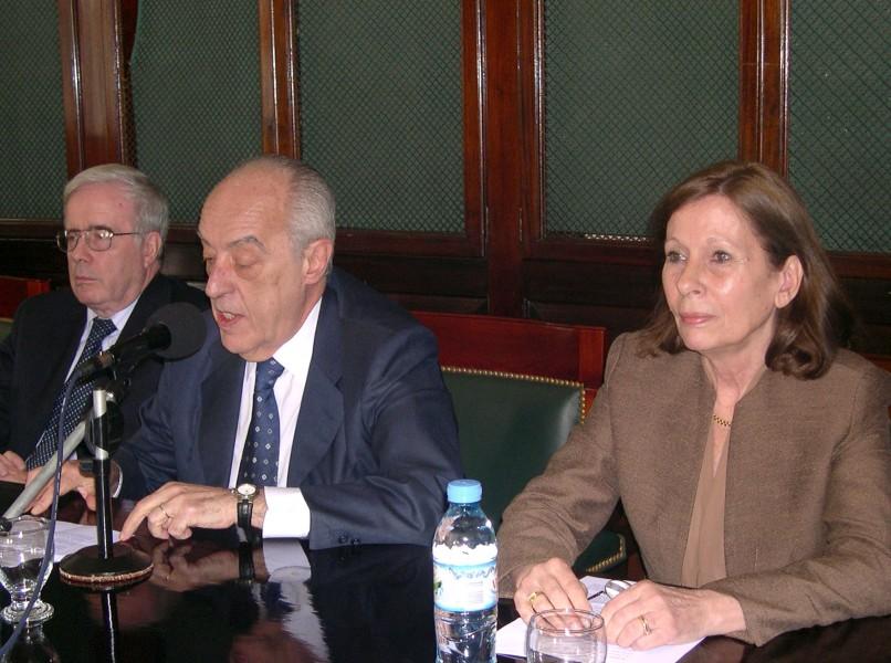 Tulio Ortiz, Atilio Alterini y Susana Albanese
