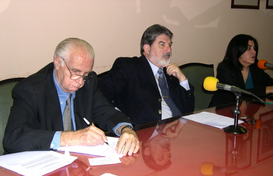 Carlos Mallman, Carlos Cárcova y Laura Pardo