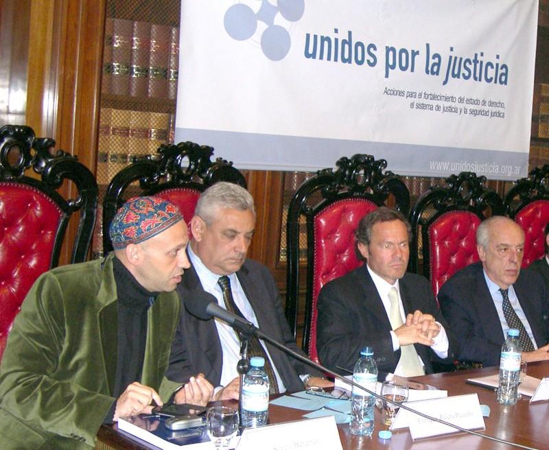 Sergio Bergman, Enrique Zuleta Puceiro, Gustavo Ferrari y Atilio Alterini