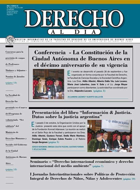 Tapa de Derecho al Día - Edición 95