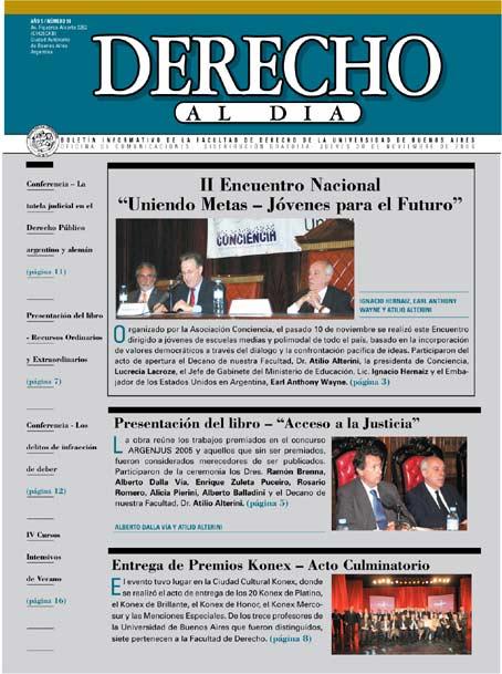 Tapa de Derecho al Día - Edición 98